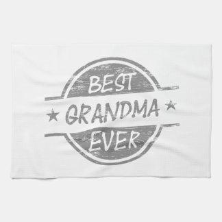 Best Grandma Ever Gray Tea Towel