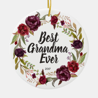 Best Grandma Ever Personalized Ornament