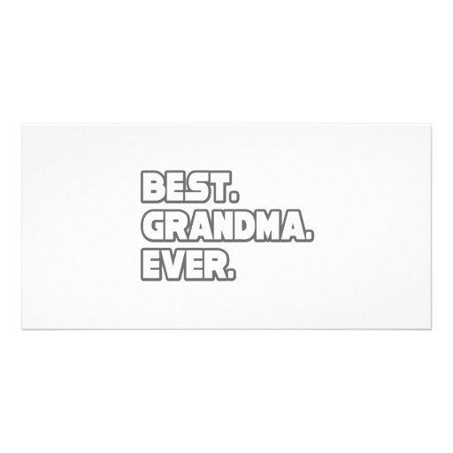 Best Grandma Ever Picture Card