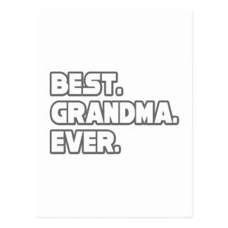 Best Grandma Ever Post Card