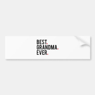 best grandma ever, word art, text design bumper sticker