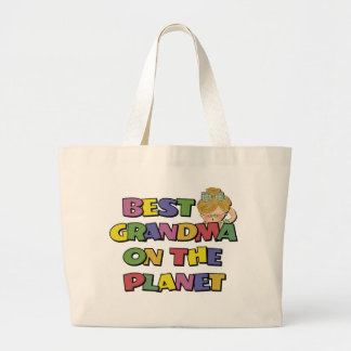Best Grandma On The Planet Canvas Bags