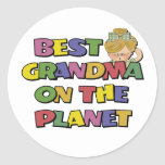 Best Grandma On The Planet Classic Round Sticker