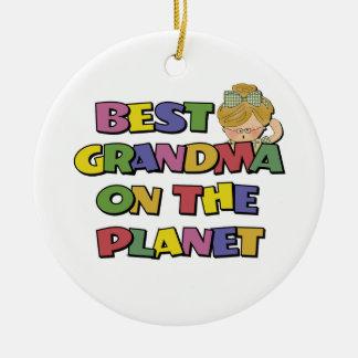 Best Grandma On The Planet Christmas Ornament