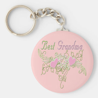 Best Grandma Swirling Hearts Keychain