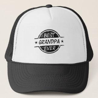 Best Grandpa Ever Black Trucker Hat