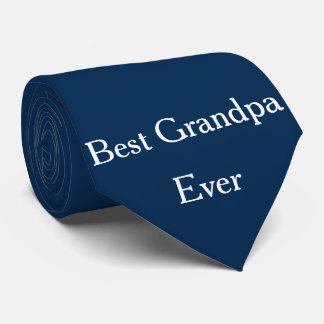Best Grandpa Ever Grandfather Navy Blue  Cool Tie