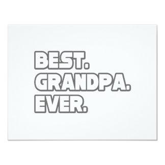 Best Grandpa Ever Custom Invitation