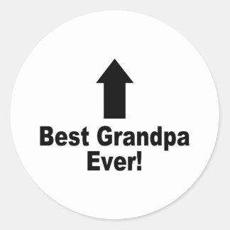 Best Grandpa Ever Round Sticker