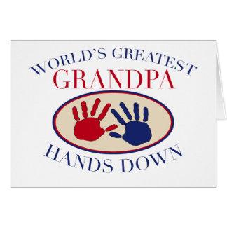 Best Grandpa Hands Down Greeting Card
