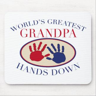Best Grandpa Hands Down Mouse Mat