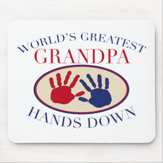 Best Grandpa Hands Down Mouse Pad