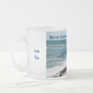 Best Grandpa in the World/Grandfather-Men Fishing Frosted Glass Coffee Mug