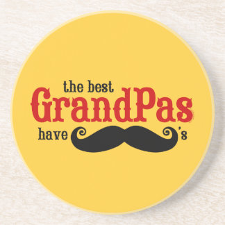 Best Grandpas Have Mustaches Coaster