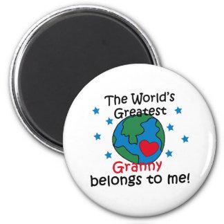 Best Granny Belongs to me 6 Cm Round Magnet