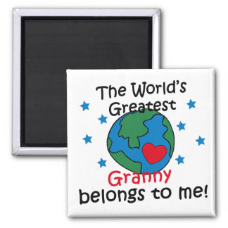 Best Granny Belongs to me Square Magnet