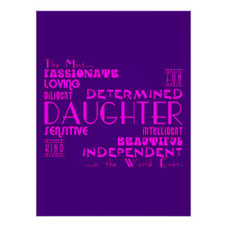 Best & Greastest Daughters Birthdays : Qualities Poster