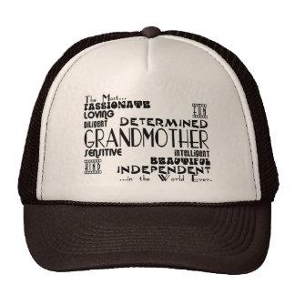 Best & Greastest Grandmothers & Grandmas Qualities Mesh Hat