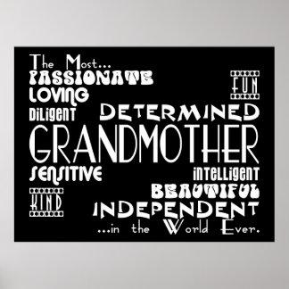 Best & Greastest Grandmothers & Grandmas Qualities Poster