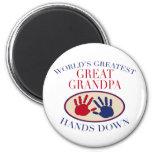 Best Great Grandpa Hands Down 6 Cm Round Magnet