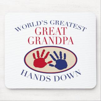 Best Great Grandpa Hands Down Mouse Mat