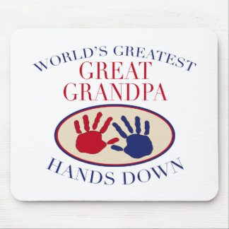 Best Great Grandpa Hands Down Mouse Pad