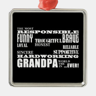 Best & Greatest Grandfathers & Grandpas Qualities Christmas Tree Ornaments