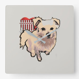 Best Guard Dog Kato Square Wall Clock