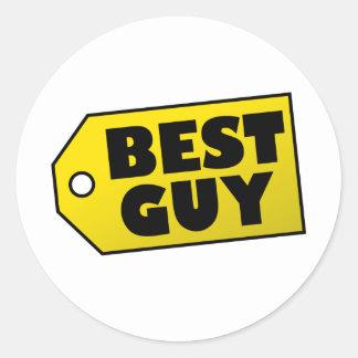 Best Guy Classic Round Sticker