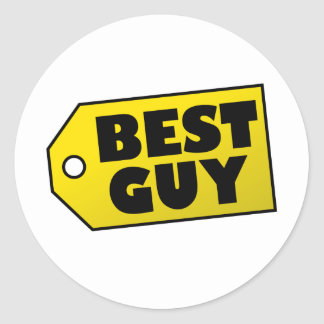 Best Guy Round Sticker