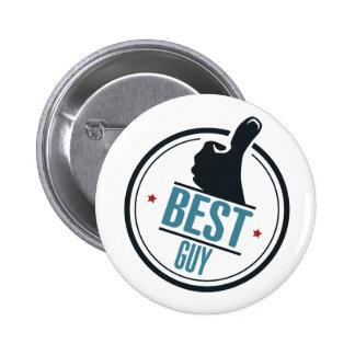 Best guy thumb up label 6 cm round badge
