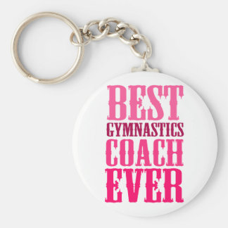 Best Gymnastics Coach Ever Key Ring