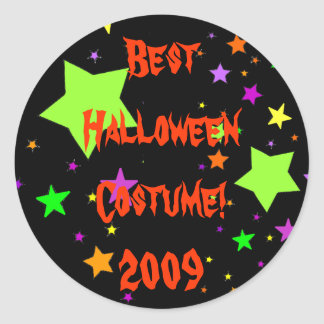 Best Halloween Costume! 2009 Classic Round Sticker