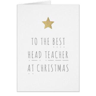 Best Head Teacher Phonics Christmas Greeting Card