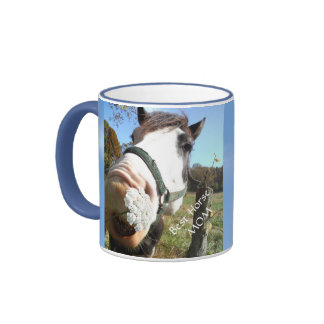 Best Horse Mom, Funny Horse with Flower  mug