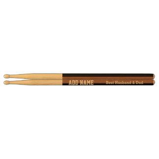 Best Husband and Dad Modern Tan Black Ribbon A03 Drumsticks