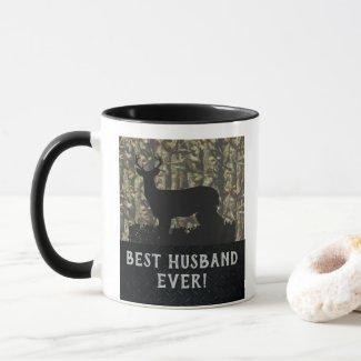 Best Husband Ever Deer Hunting Anniversary Camo Mug