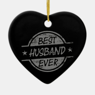 Best Husband Ever Gray Christmas Ornament