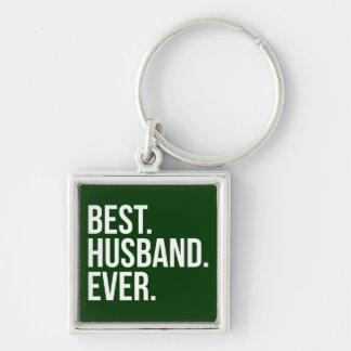 Best Husband Ever Green Key Chain
