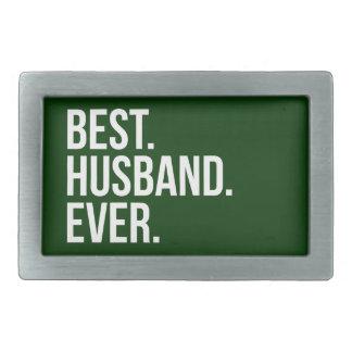 Best Husband Ever Green Rectangular Belt Buckle