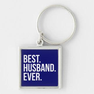 Best Husband Ever Navy Keychains