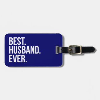 Best Husband Ever Navy Luggage Tag