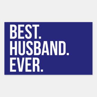 Best Husband Ever Navy Rectangular Sticker
