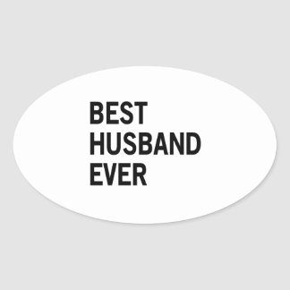 Best Husband Ever Oval Sticker