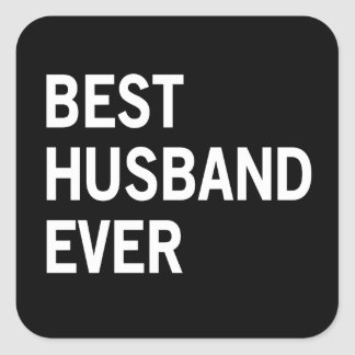 Best Husband Ever Square Sticker