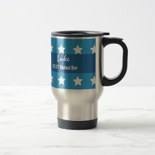 BEST HUSBAND Ever Stars Custom Name V6A Travel Mug