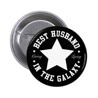 Best Husband In The Galaxy 6 Cm Round Badge