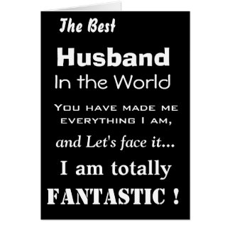 Best Husband in the World Funny Greeting Card