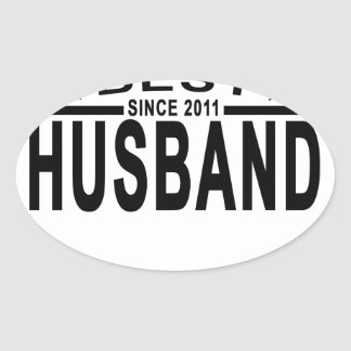 Best HUSBAND Since 2011 Tshirt.png Oval Sticker