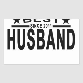 Best HUSBAND Since 2011 Tshirt.png Rectangular Sticker